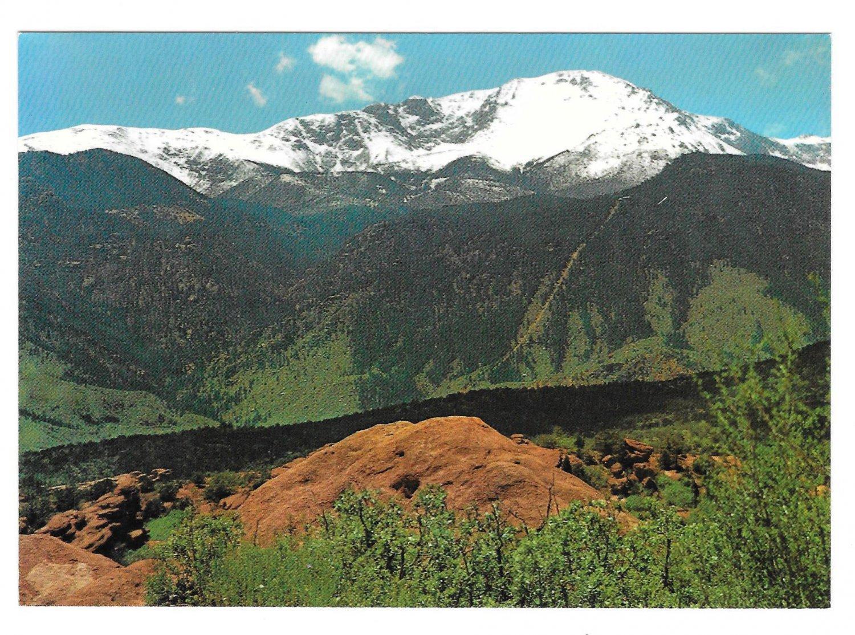 CO Pikes Peak Colorado Garden of the Gods Vintage Charles Motisher Jr. Postcard 4X6