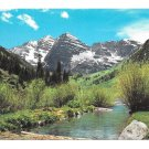 Colorado Rocky Mountains Springtime Maroon Bells Creek Vintage Motisher 4X6 Postcard