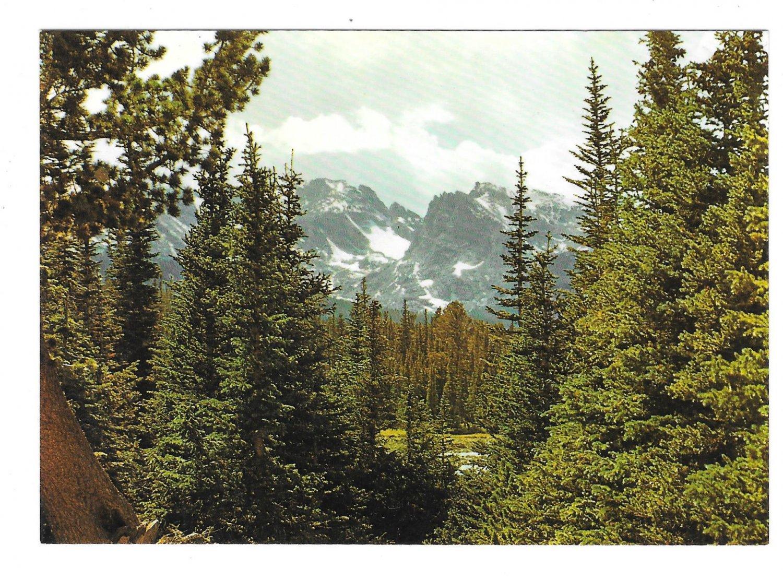 CO Colorado Continental Divide Rocky Mountains Vintage Motisher 4X6 Postcard