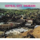 CO Colorado Central City Gold Rush Birds Eye View Vintage 4X6 Easterling Postcar