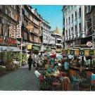 Denmark Vimmelskaftet Copenhagen Street View Outdoor Cafes 1969 Postcard 4X6