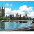 GB London Houses of Parliament Thames River John Hinde Vintage 4X6 Postcard