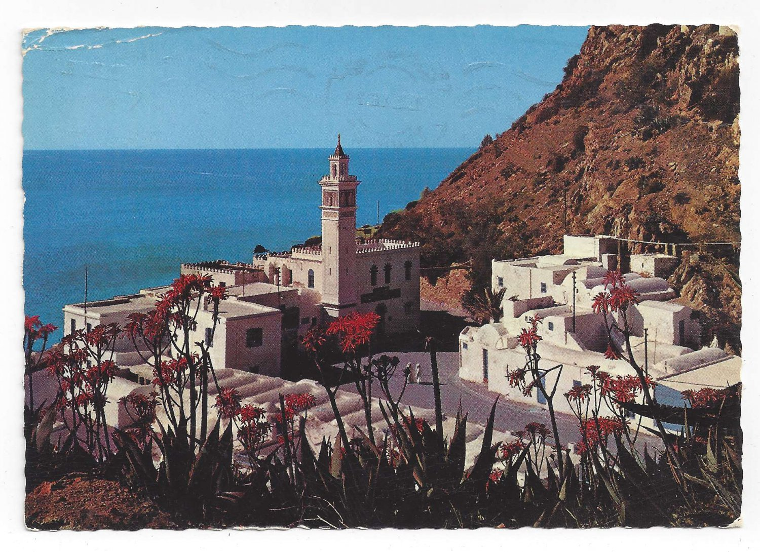 Africa Tunisia Korbous Spa Thermal Hot Springs Birds Eye View 4X6 Postcard