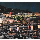 France Cannes Cote d Azur Port Casino Aerial View Night 4X6 Postcard