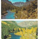 Colorado Rio Grande River Between South Fork and Creede 2 Vintage 4X6 Postcards