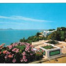 Tunisia Sidi Bou Said Panorama Coast Vintage H Ismail Postcard 4X6
