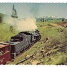 Cumbres Toltec Scenic Railroad Passenger Train RR Steam Engine Lobato Curve Vtg Postcard 4X6