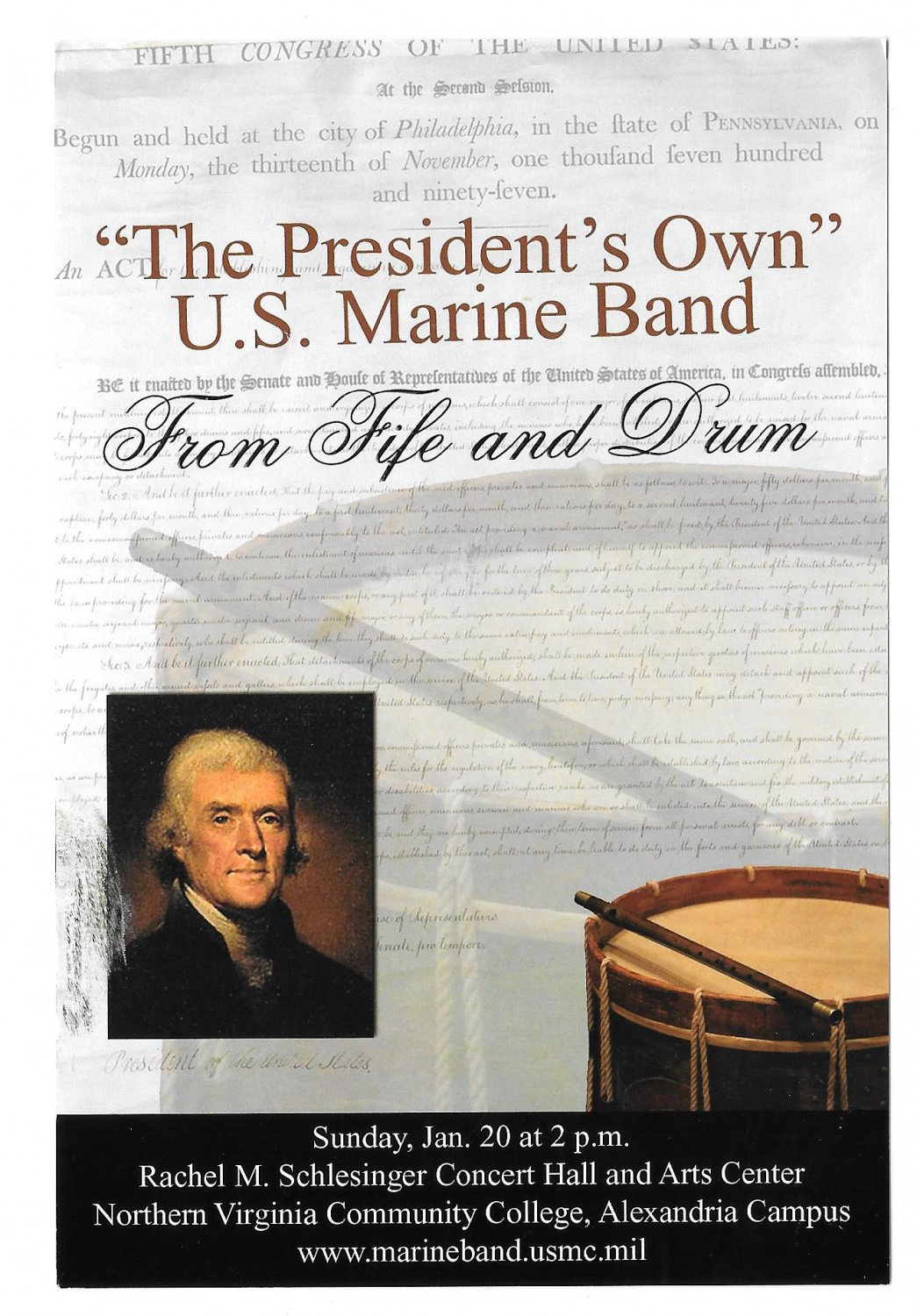 United States Marine Band From Fife and Drum Concert Modern Advert Postcard