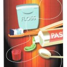 Modern Dental Advert Postcard Toothpaste Tooth Brush Floss 2008 Appt Postcard