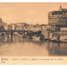 Italy Rome Castel S Angelo Bridge View of Saint Peters Vintage Postcard E. Risi