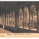 Italy Roma Basilica S Paolo Chiostro Saint Paul Cloister Vintage Postcard E. Risi 26