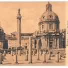 Italy Roma Foro Traiano Trajan Column Basilica Ulpia Vintage Postcard E Risi 48