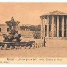 Italy Roma Piazza Bocca Della Verita Fontana Paola Tempio di Vesta Postcard E. Risi