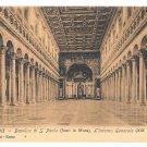 Italy Roma Basilica S Paolo Church Interior e. Risi Vintage Postcard Rome