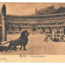 Italy Roma Lions Christians Colosseum Last Prayer Vintage Postcard E Risi Rome