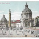 Italy Roma Foro Traiano Trajans Forum Basilica Ulpia Vintage Postcard