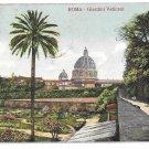 Italy Rome Giardini Vaticani Vatican Garden Vintage 1908 Postcard