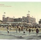 Netherlands Holland Scheveningen Beach Palace Hotel Seaside 1908 Postcard