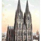 Germany Koln Cologne Cathedral West Side Dom Westseite Vintage Leo Kurten Postcard