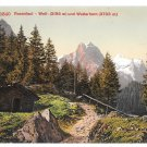 Switzerland Bernese Alps Rosenlaui Glacier Well Wetterhorn Vintage Postcard