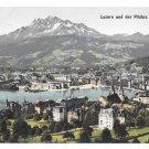 Switzerland Luzern Pilatus Swiss Alps Panoramic View Vintage Postcard