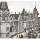 UK London Law Courts Vintage Hartmann Postcard