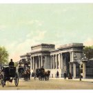 UK London Hyde Park Corner Horse Carriages Vintage Postcard F Hartmann