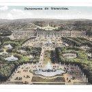 France Panorama de Versailles Palace Aerial View Vintage Postcard