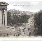 Paris France Boulevard de la Madeleine Vintage Postcard