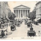 Paris France Rue Royale Horse Drawn Bus Carriages Vintage LL Lucien Levy PostcardPostcard