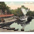 UK Scotland Loch Katrine Steamer at Trossachs Pier East End Vintage Postcard