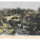 UK Scotland Ayr Alloway Auld Brig O' Doon River Doon Bridge Vintage GWW Postcard