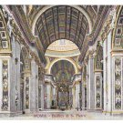 Italy Rome Basilica S Pietro Interior St Peters Cathedral Vintage Roma Postcard
