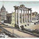 Italy Rome Forum Foro Romano Tempio Vespasiano Temple Ruins Vintage Postcard