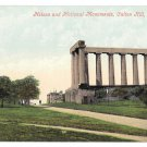Scotland Edinburgh Nelson and National Monuments Calton Hill Vintage Valentine Series Postcard