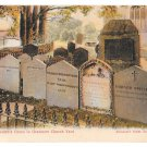 UK Wordsworths Grave Grasmere Churchyard Vintage Abraham's Series Color Postcard