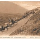 UK Windermere Coaches Descending Dunmail Raise Keswick Abraham's Series No 822 Postcard