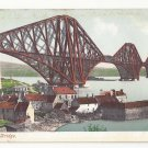 Scotland Edinburgh Forth Bridge Cantilever Railway Vintage Postcard