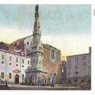 Italy Napoli Piazza Trinita Maggiore Column of the Virgin Naples Vintage Postcard