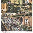 Italy Napoli Rampe S Antonio a Posillipo Processione del Santo Vintage Ragozino Postcard