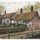 UK Stratford on Avon Ann Hathaway Cottage Vintage Peacock Series Postcard 1908