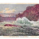 Prudential Insurance Co Rapids Niagara Falls Halftone Advertising Postcard