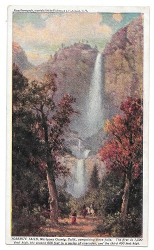 Prudential Insurance Co Yosemite Falls Mariposa CA Halftone Advertising Postcard