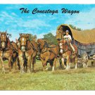 Conestoga Wagon Pequea Valley Farm Elmer Lapp Lancaster County PA 4X6 Postcard