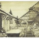 Eckley Miners Village Scene Postcard Molly Maguires Setting Pennsylvania