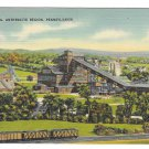 Anthracite Coal Mining Region of Pennsylvania Vintage Linen Postcard Mebane MS 7