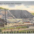 Anthracite Coal Mining Region of Pennsylvania Vintage Linen Postcard Mebane MS 11