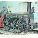 Rocket Locomotive Reading Railroad Franklin Institue Phila PA 4X6 Train Postcard