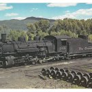 Denver Rio Grande Western Railroad K36 2-8-2 Locomotive 488 LARGE Postcard Trains