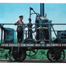 B&O Baltimore Ohio Railroad Peter Coopers Tom Thumb Steam Locomotive Train Postcard